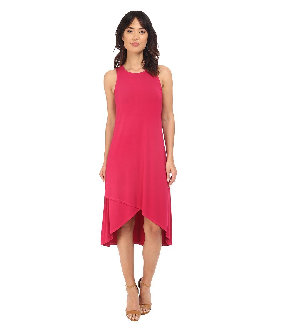 Splendid Rayon Jersey Midi Dress (Fuchsia Rose) Women