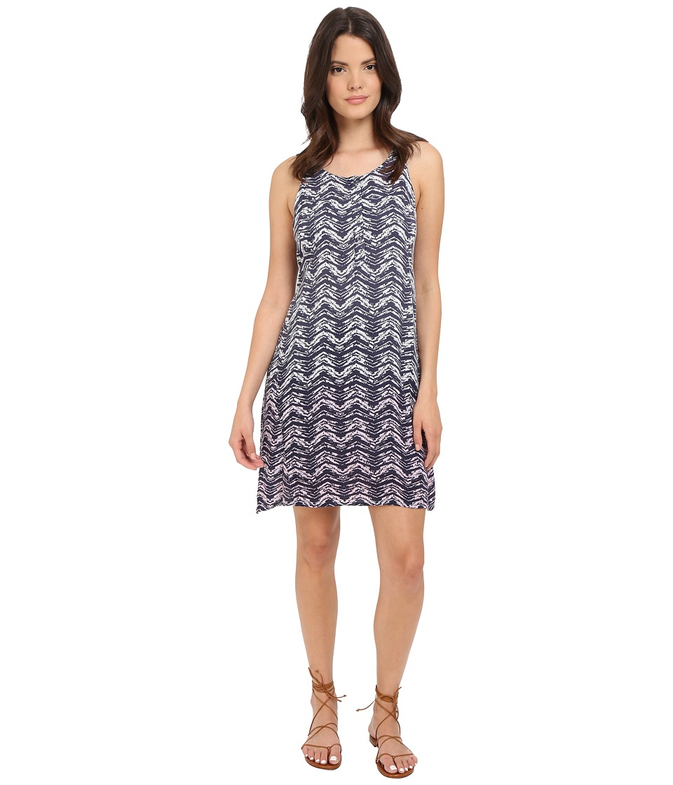 Splendid - Zigzag Ombre Dress (Navy/Petal Pink) Women's Dress