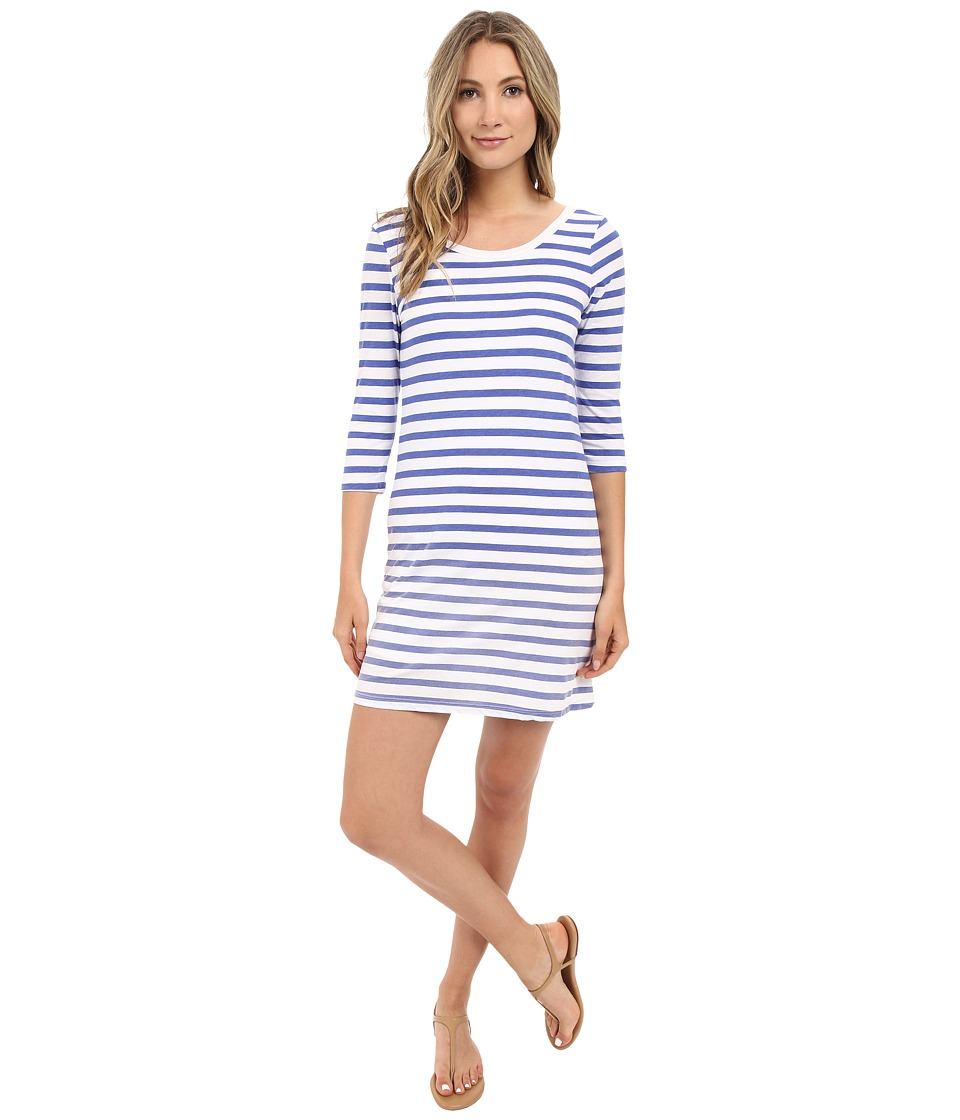 Splendid - Sunfaded Stripe Jersey Dress (Monaco Blue) Women's Dress