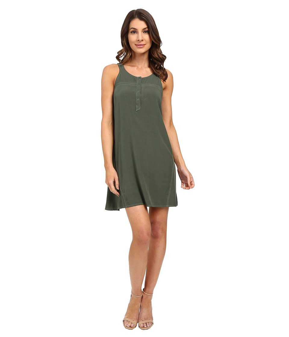 Splendid - Rayon Voile Dress (Military) Women's Dress