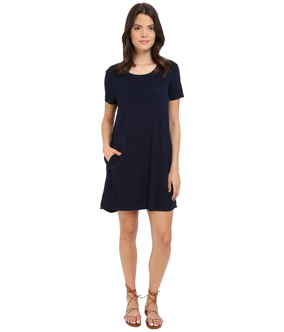 Splendid - Rayon Jersey Dress (Navy) Women's Dress