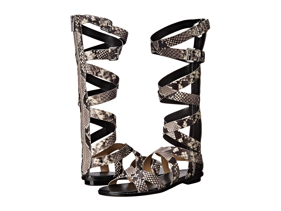 MICHAEL Michael Kors Darby Gladiator (Natural Embossed Printed Snake) Women