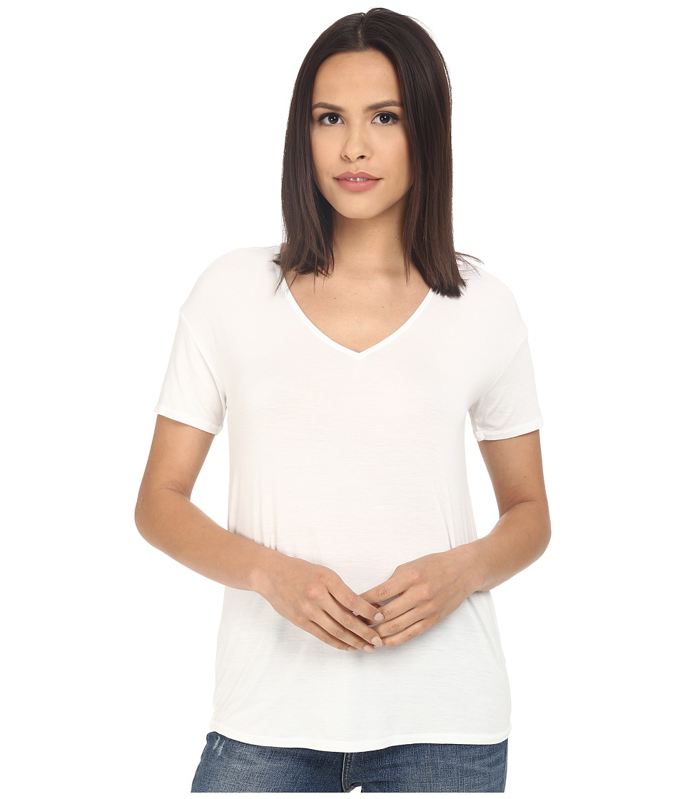 Splendid - Rayon Jersey Short Sleeve Tee (White) Women's Short Sleeve Pullover