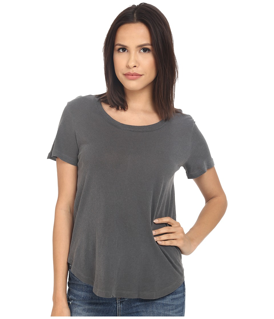Splendid - Vintage Whisper Scoop Tee (Lead) Women's Short Sleeve Pullover