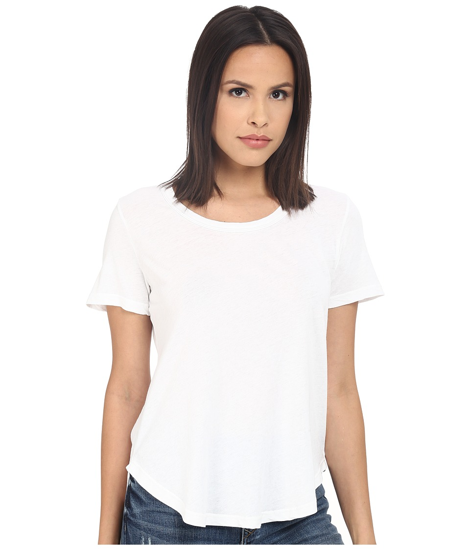 Splendid - Vintage Whisper Scoop Tee (Paper) Women's Short Sleeve Pullover