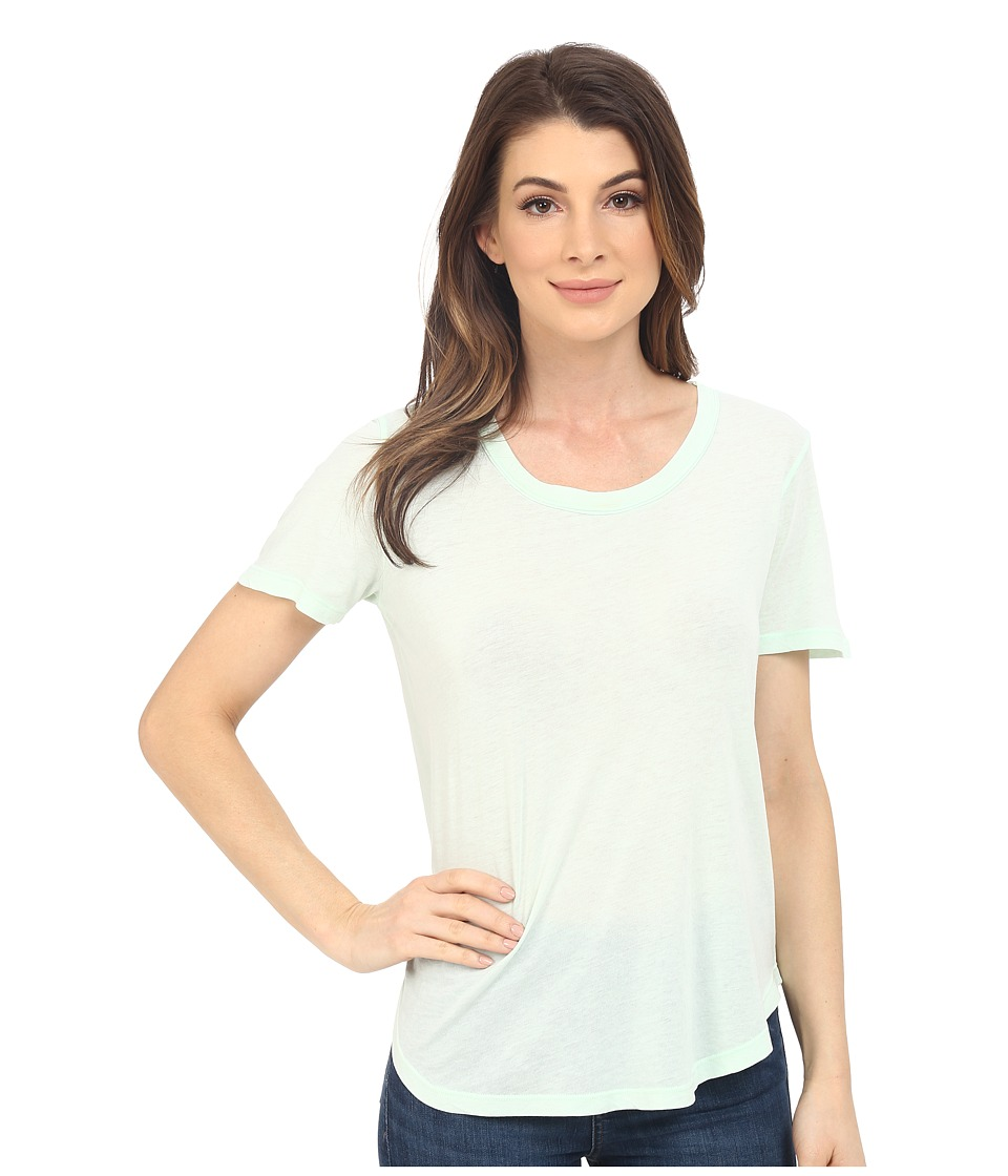 Splendid - Vintage Whisper Scoop Tee (Vintage Aqua Glass) Women's Short Sleeve Pullover