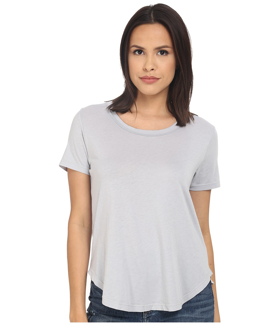 Splendid Very Light Jersey Scoop Tee (Dove Grey) Women