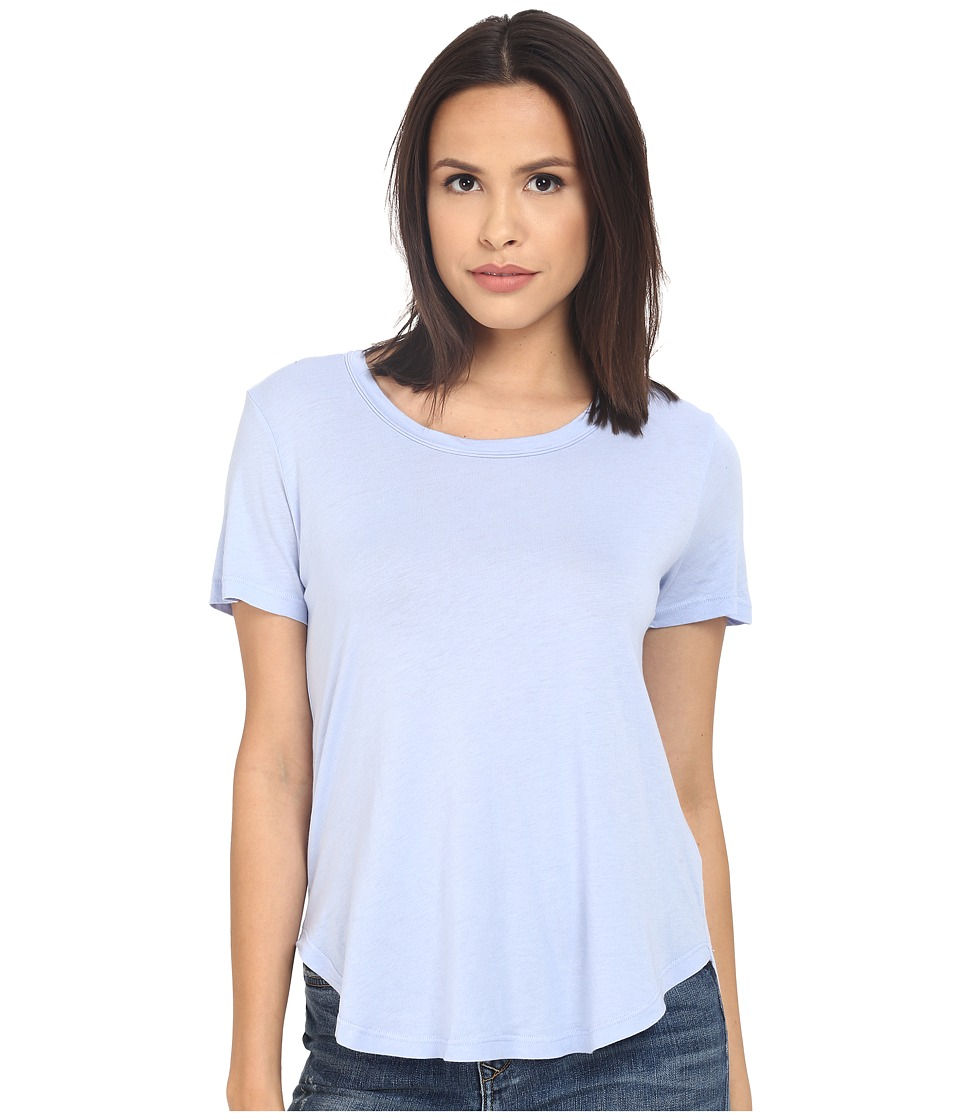 Splendid Very Light Jersey Scoop Tee (Lavender Blue) Women