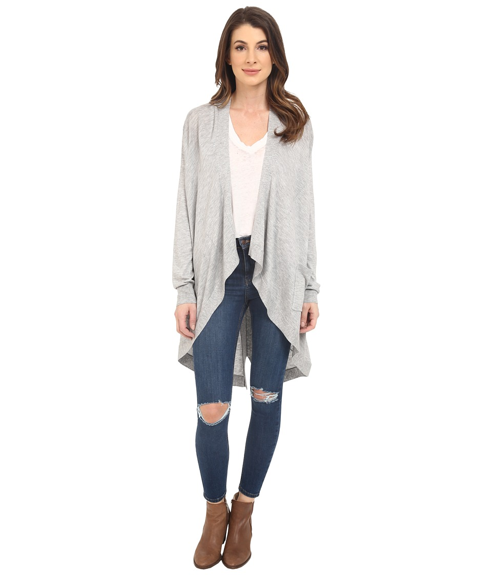 Splendid - Cashmere Blend Cardigan (Light Heather Grey) Women's Sweater
