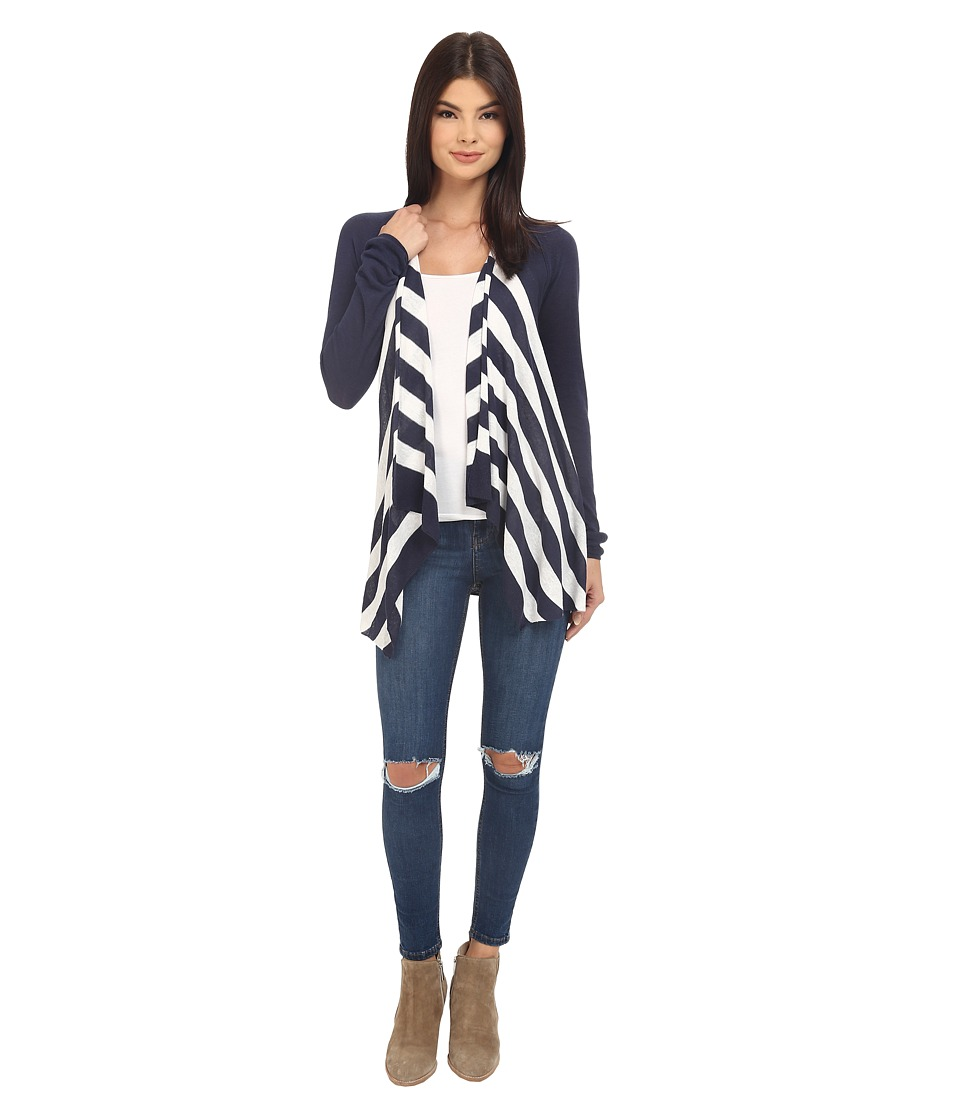 Splendid - Parasol Stripe Sweater (Navy/Natural) Women's Sweater
