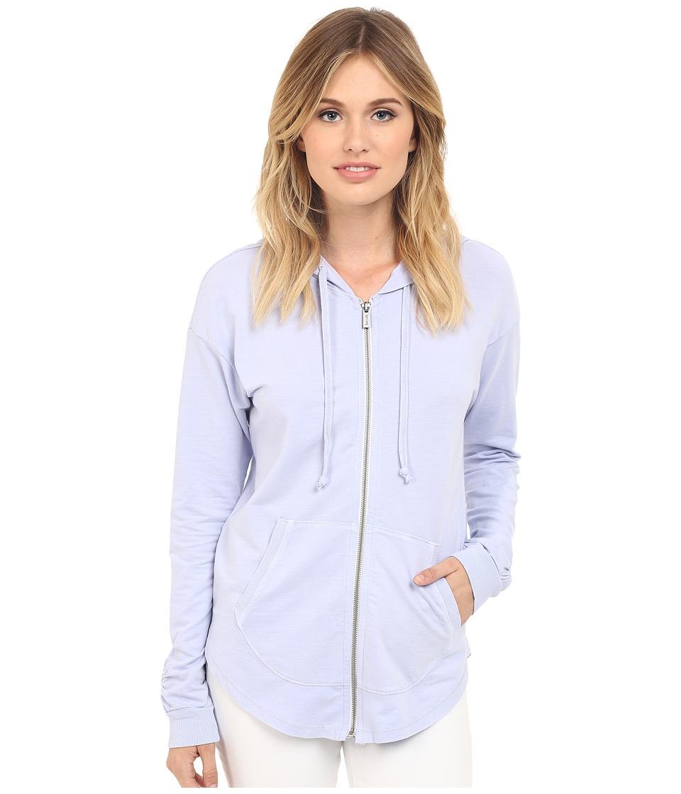 Splendid - Vintage Wash Active Hoodie (Vintage Lavender Blue) Women's Sweatshirt