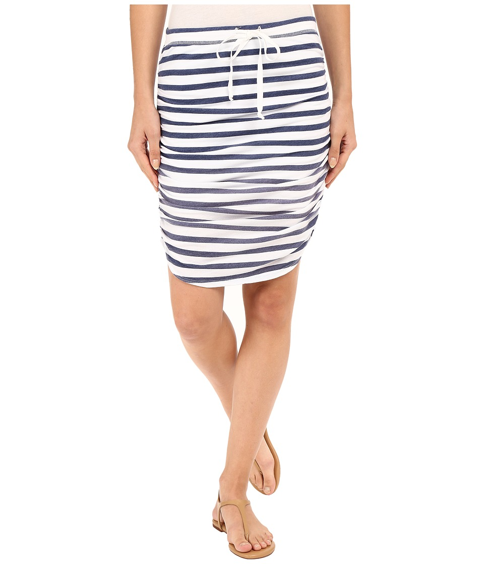 Splendid Sunfaded Stripe Jersey Skirt (Navy) Women