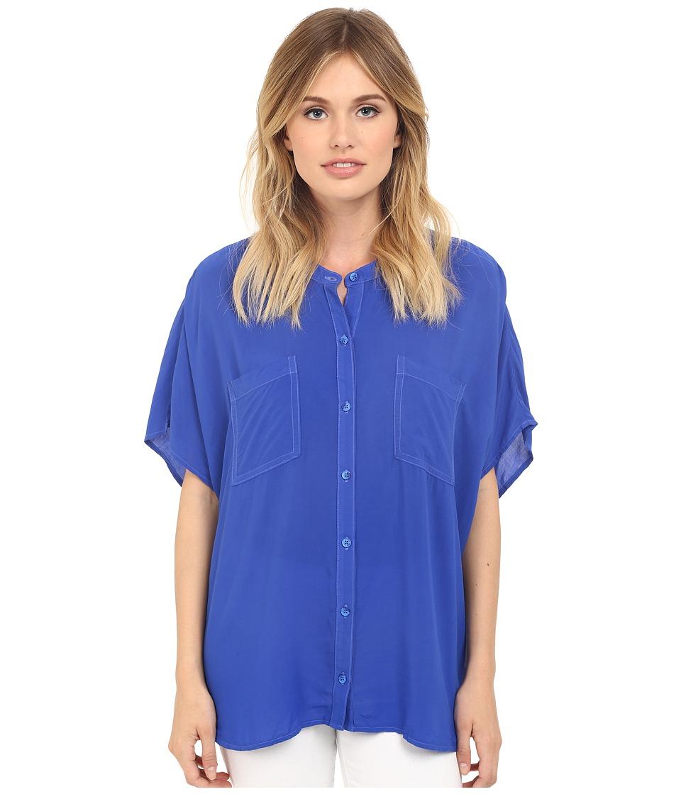 Splendid - Rayon Voile Circle Shirt (Monaco Blue) Women's Blouse