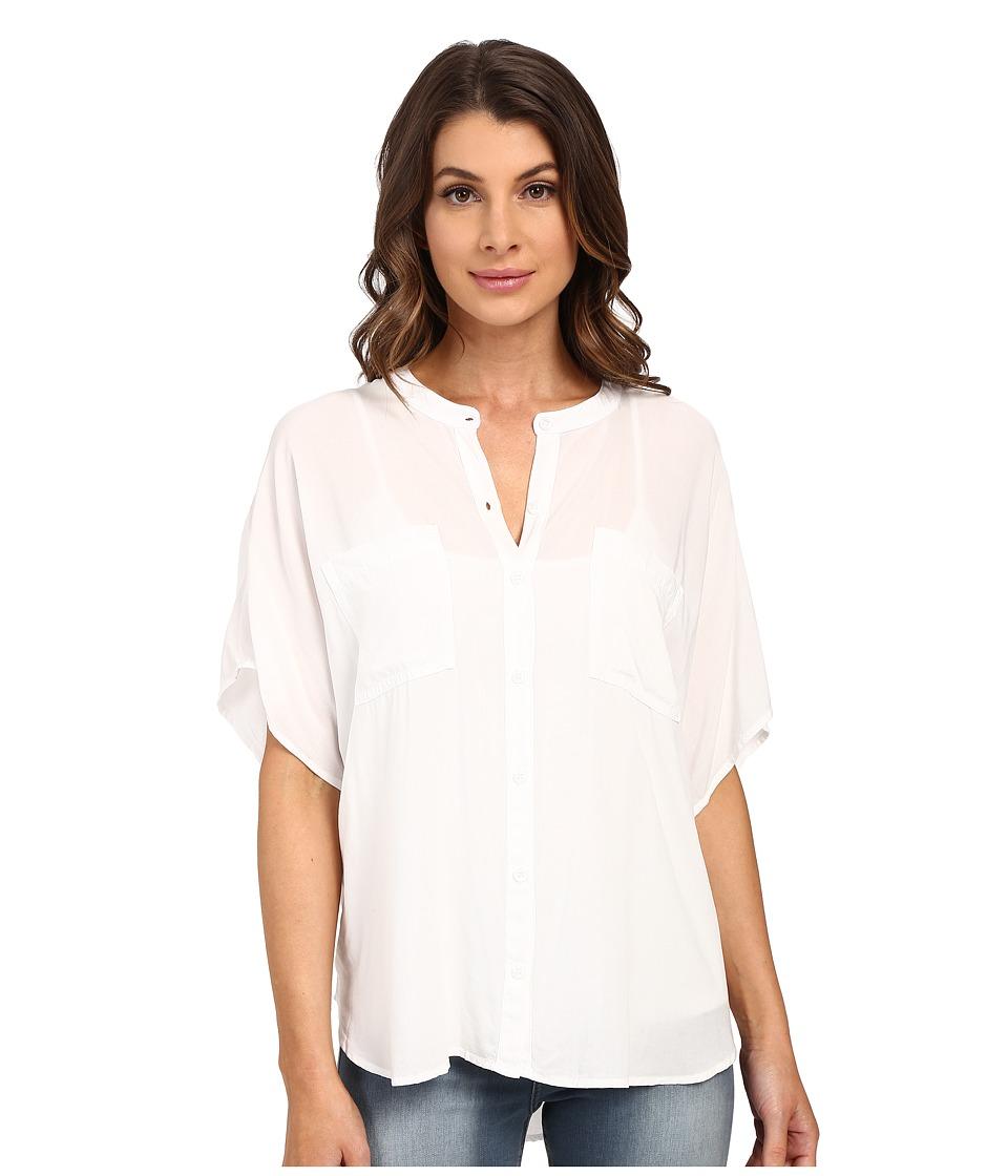 Splendid - Rayon Voile Circle Shirt (White) Women's Blouse