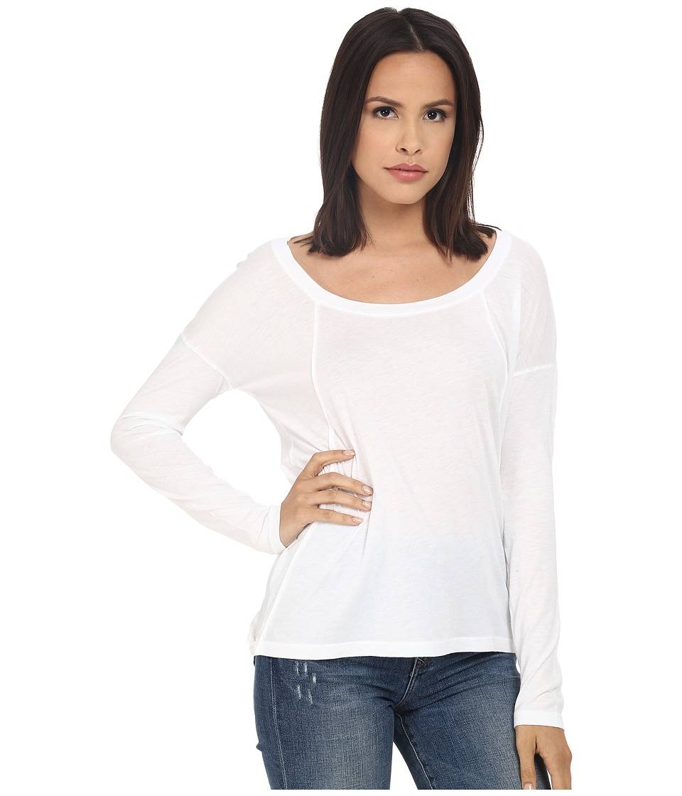 Splendid - Very Light Jersey Long Sleeve (White) Women's Clothing