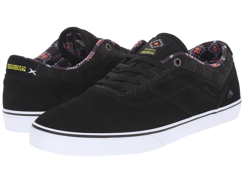 Emerica - The Herman G6 Vulc X Psockadelic (Black/Print) Men's Shoes