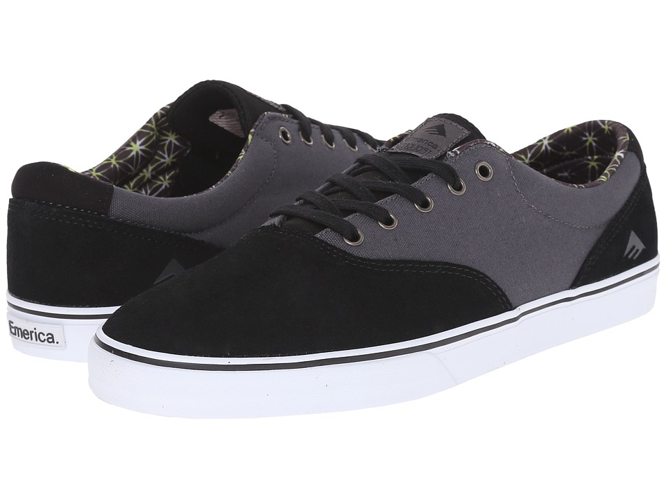 Emerica - The Provost Slim Vulc (Black/Grey/White) Men's Skate Shoes