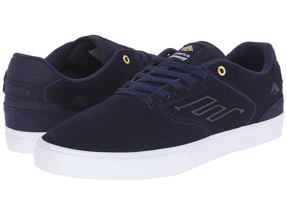 Emerica - The Reynolds Low Vulc (Navy/White/Gold) Men's Skate Shoes