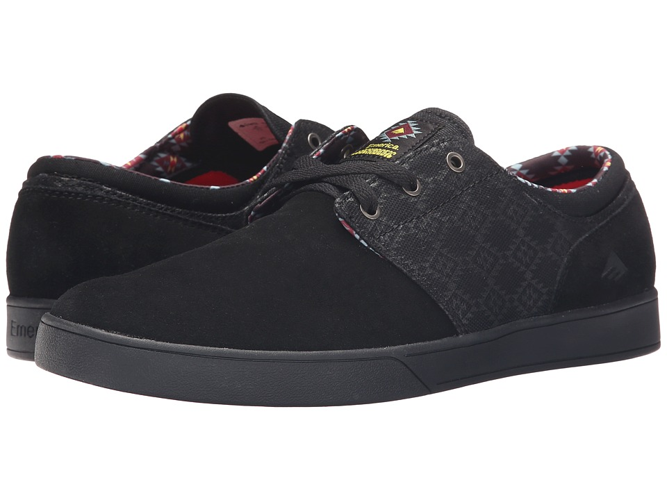 Emerica - The Figueroa X Psockadelic (Black/Black/Print) Men's Shoes