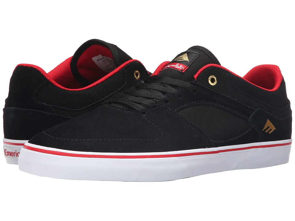 Emerica - The Hsu Low Vulc X Chocolate (Black/Red/White) Men's Shoes