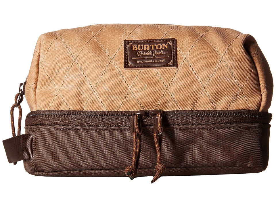Burton - Low Maintenance Kit (Beagle Brown Waxed Canvas) Travel Pouch