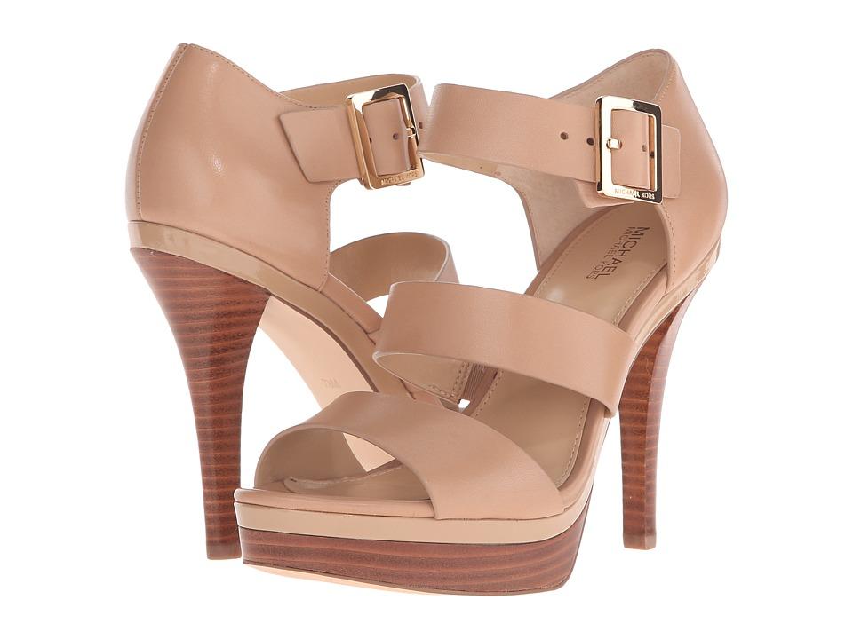 MICHAEL Michael Kors - Finley Platform (Toffee Vachetta/Patent) High Heels
