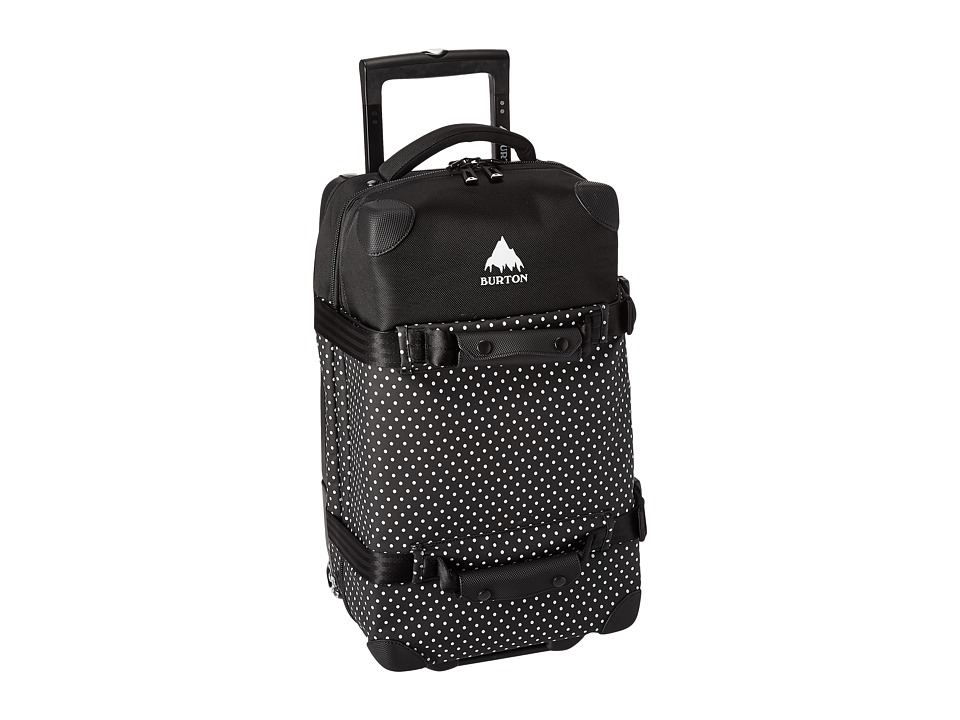 Burton - Wheelie Flight Deck (Black Polka Dot Tarp) Carry on Luggage