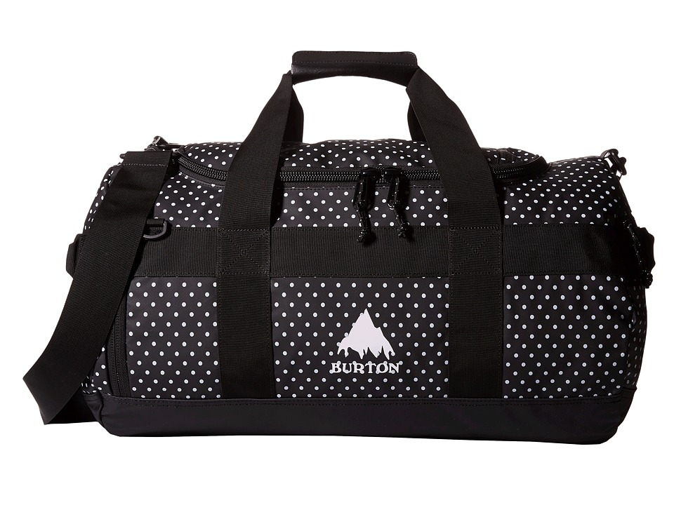 Burton - Backhill Duffel Bag Small 40L (Black Polka Dot Tarp) Duffel Bags