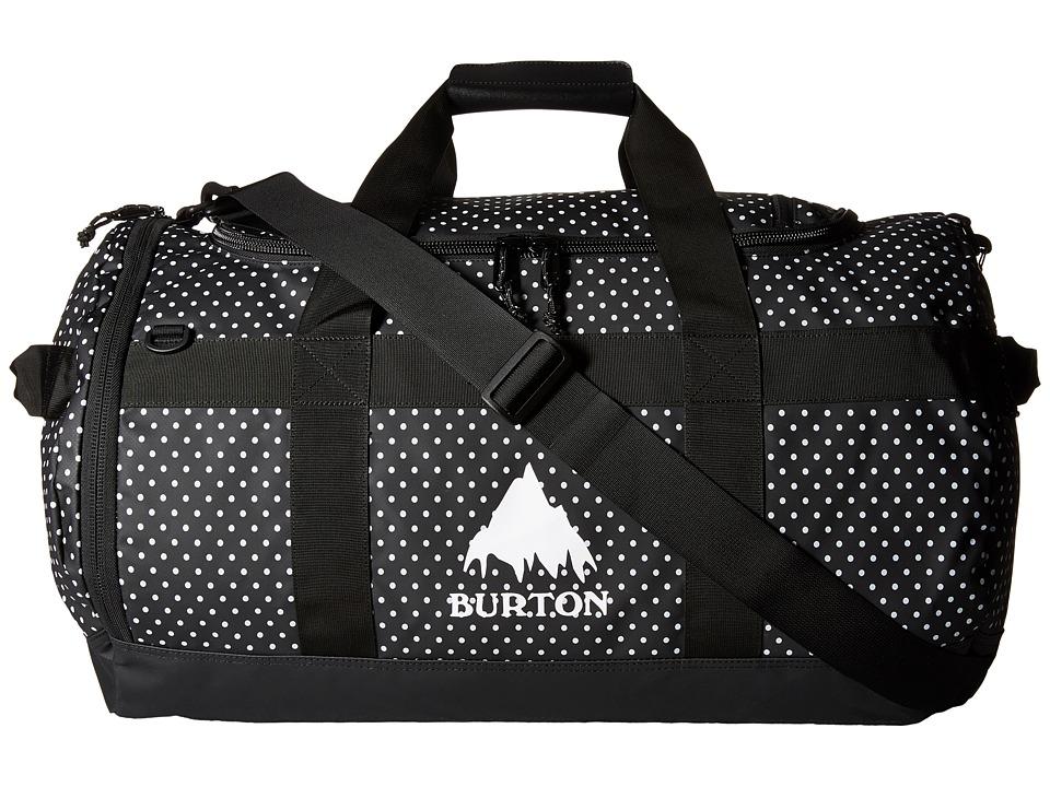 Burton - Backhill Duffel M 70L (Black Polka Dot Tarp) Duffel Bags