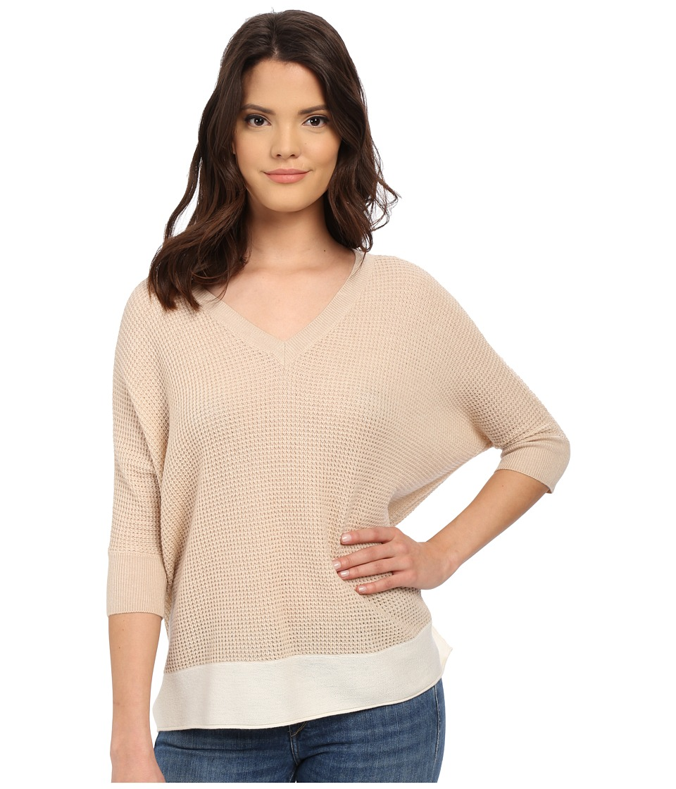 Splendid - Cruz Color Block Sweater (Sandshell/Natural) Women's Sweater