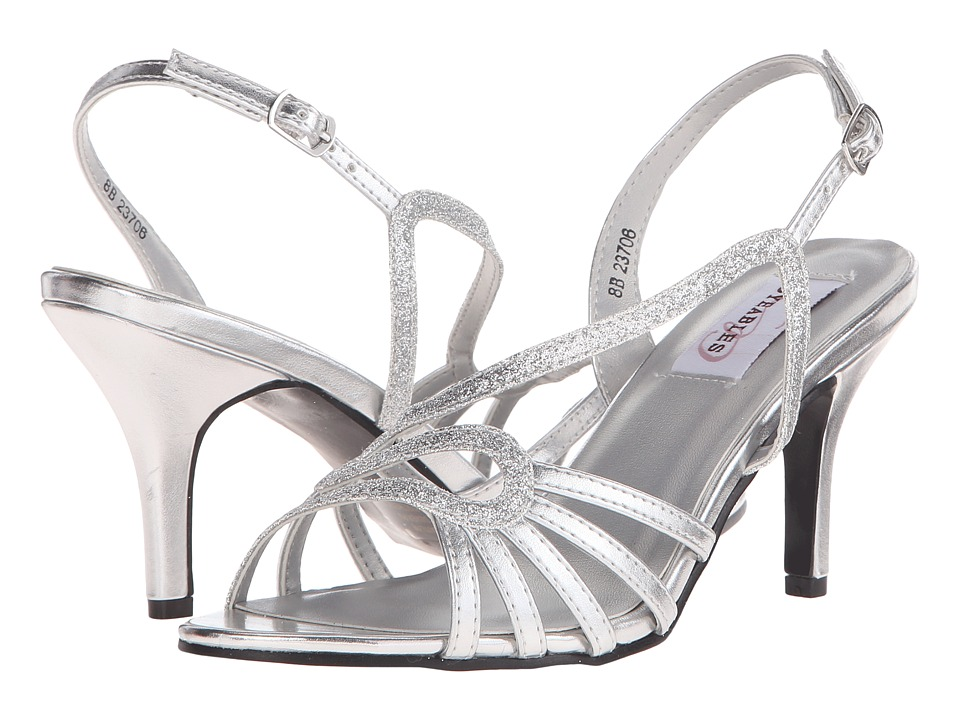 Touch Ups - Caitlyn (Silver Glitter) Women's Shoes