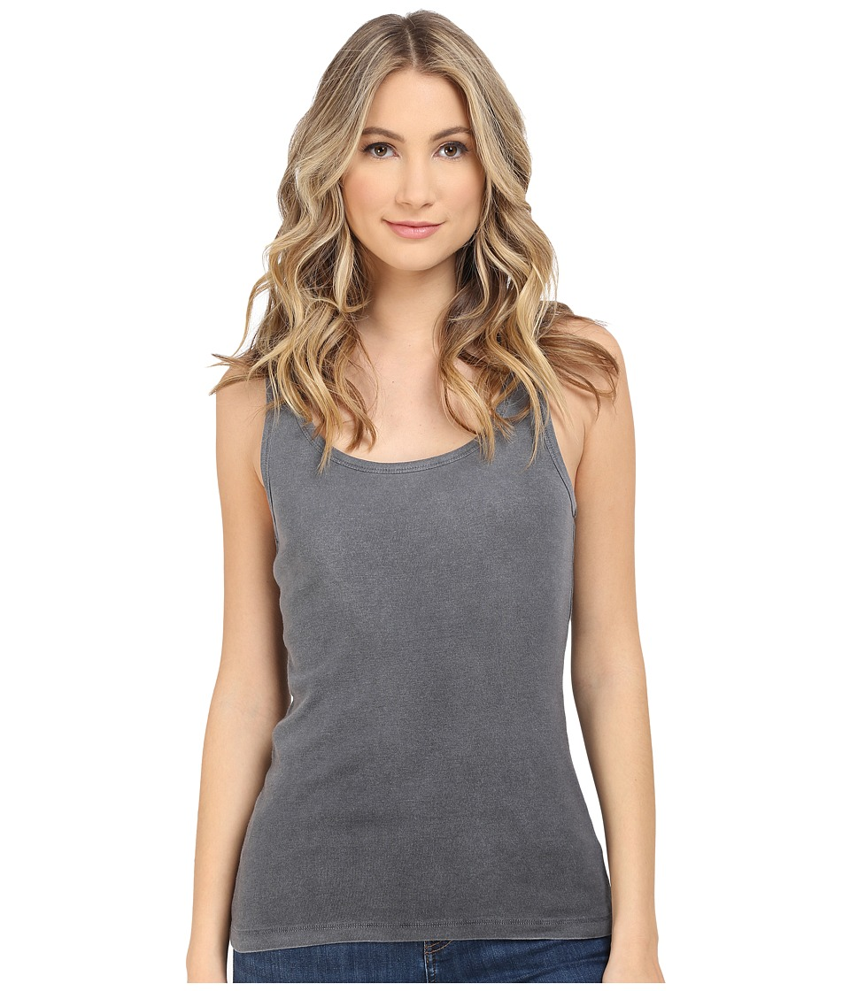 Splendid - 1X1 with Treatment Tank Top (Black) Women's Sleeveless