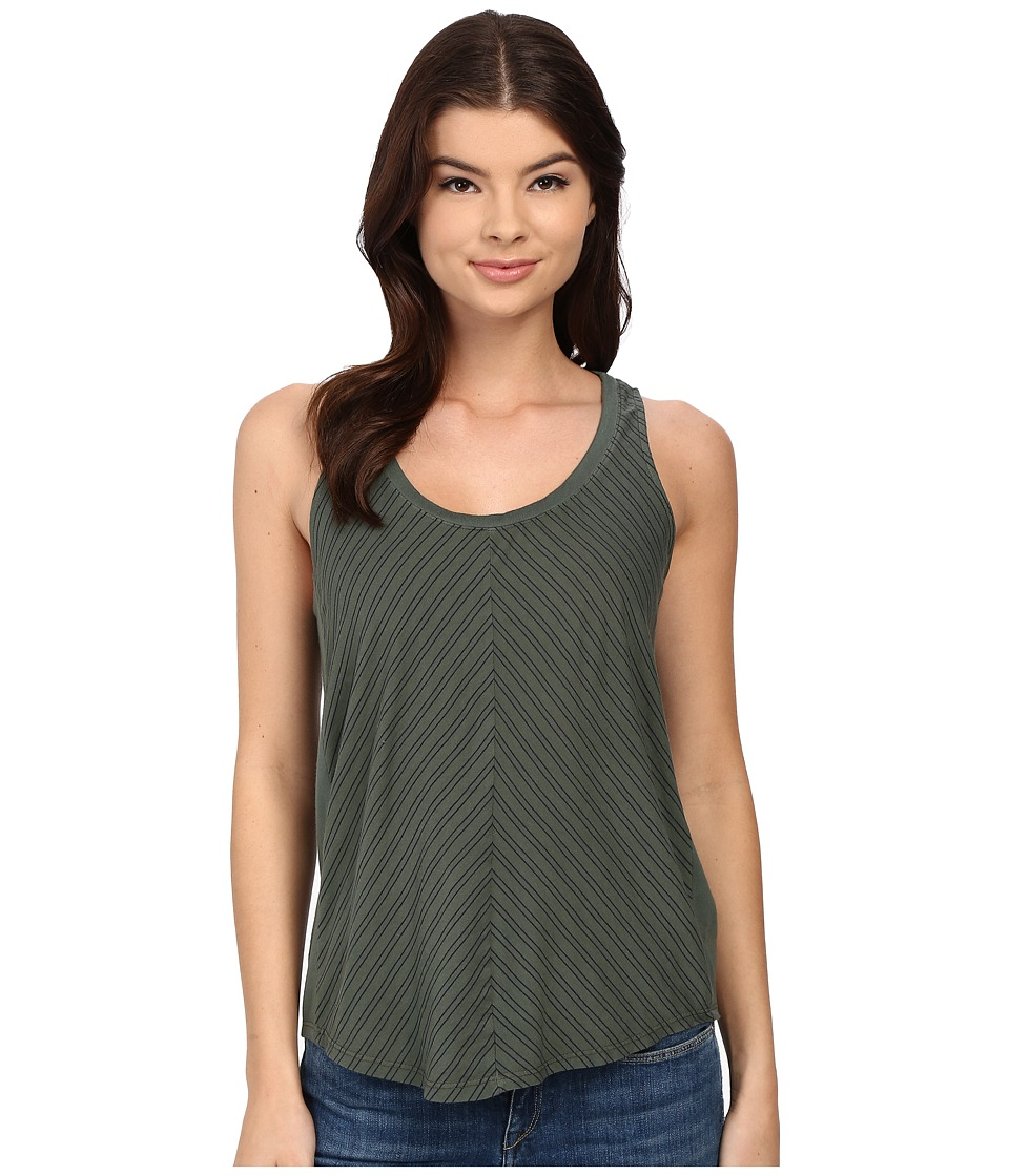 Splendid - Double Pinstripe Jersey Tank Top (Military/Navy) Women's Sleeveless