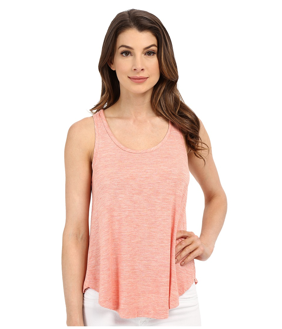 Splendid - Heathered Spandex Jersey Tank Top (Heather Coral) Women's Sleeveless