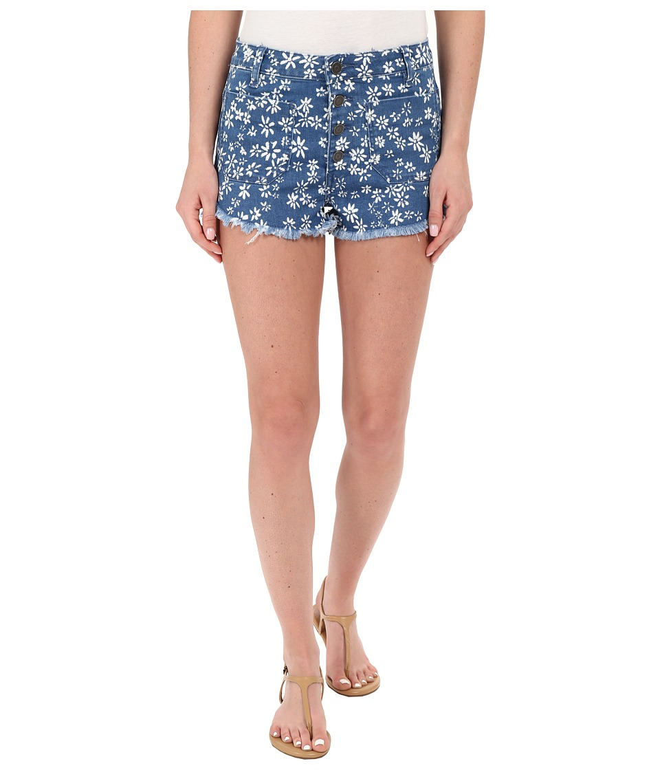 Volcom - High Waisted Shorts (Seventies Indigo) Women's Shorts