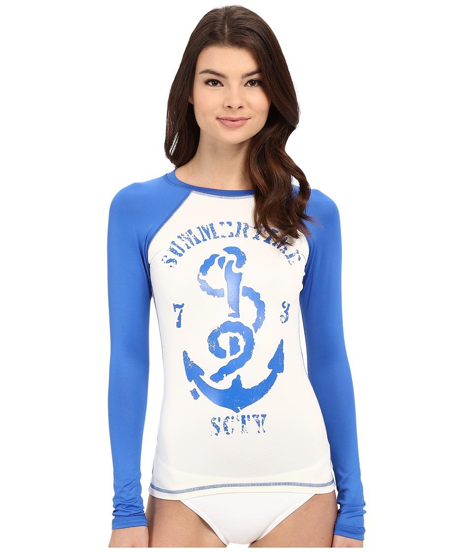 Billabong - Sol Searcher Raglan Long Sleeve Rashguard (Seashell) Women's Swimwear