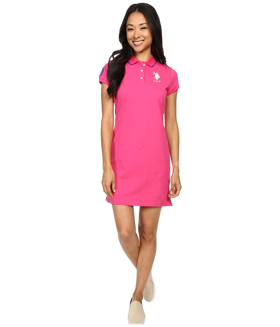 U.S. POLO ASSN. - Classic Pique Polo Dress (Cabaret) Women's Dress