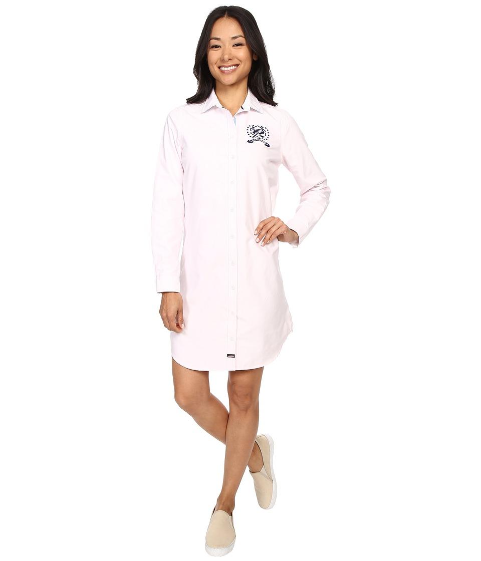 U.S. POLO ASSN. - Oxford Shirtdress (Classic Pink) Women's Dress