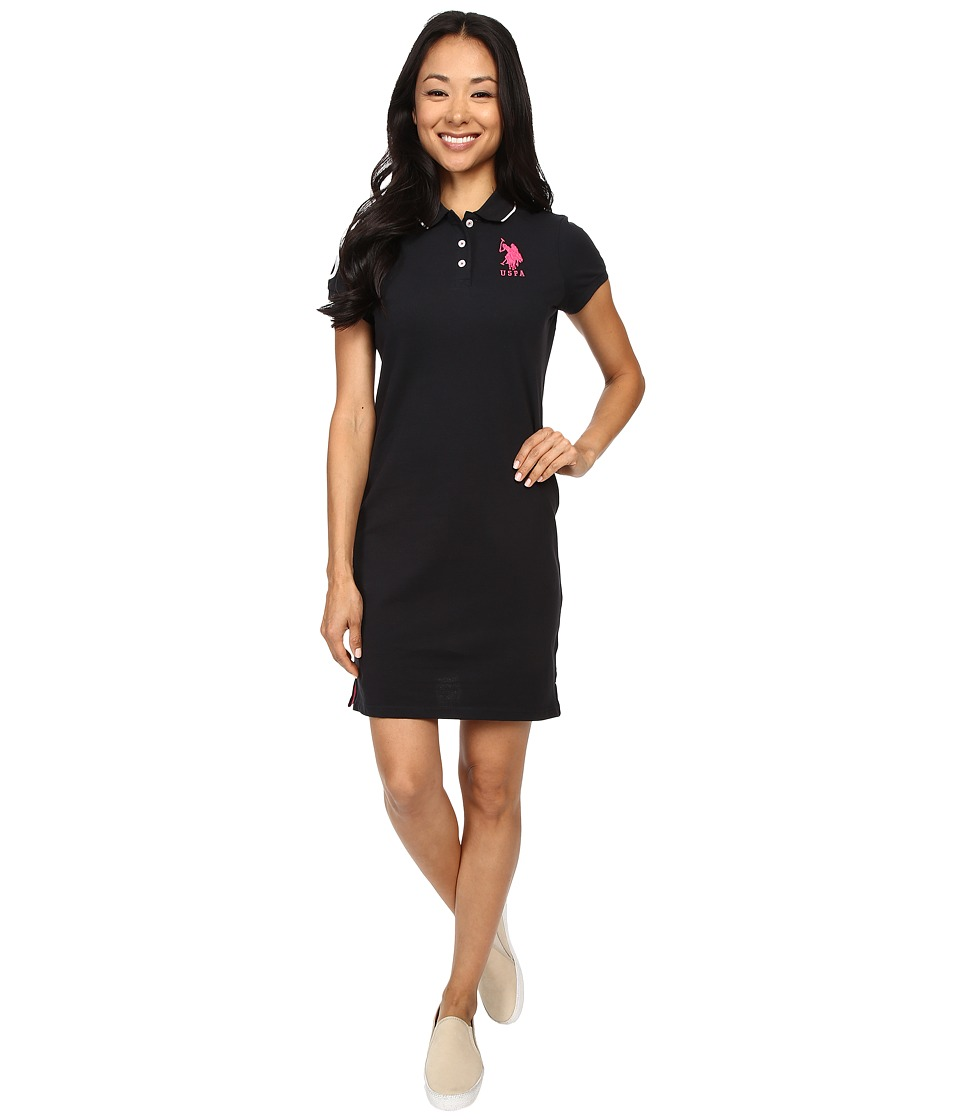 U.S. POLO ASSN. - Classic Pique Polo Dress (Anthracite) Women's Dress