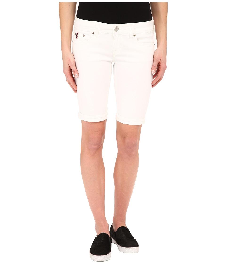 U.S. POLO ASSN. - Cass Bermuda Shorts (Optic White) Women's Shorts plus size,  plus size fashion plus size appare