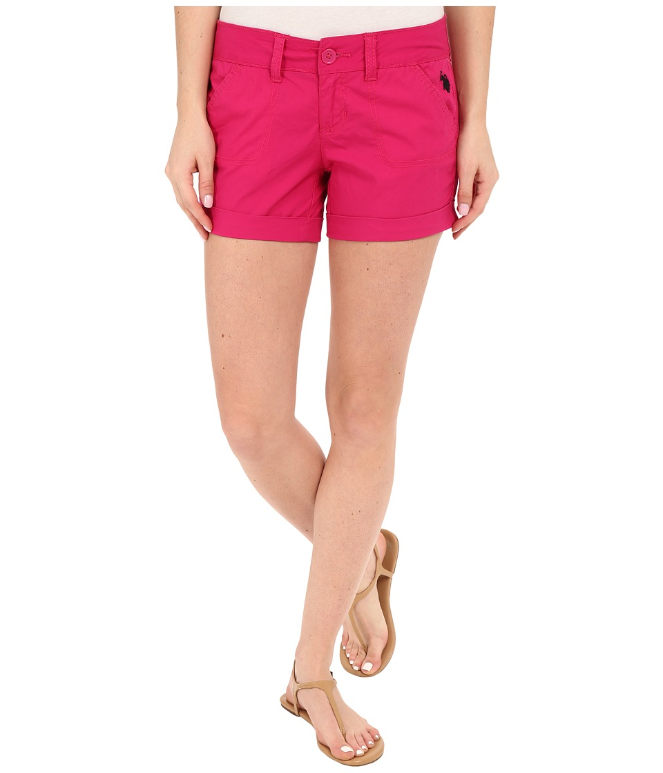 U.S. POLO ASSN. - Stretch Poplin Shorts (Berry Success) Women's Shorts