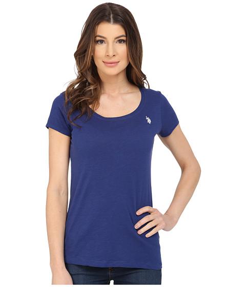 U.S. POLO ASSN. - Scoop Neck Solid T-Shirt (Blue Depths) Women