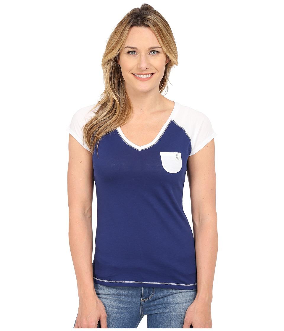 U.S. POLO ASSN. - V-Neck Pocket T-Shirt (Marina Blue) Women