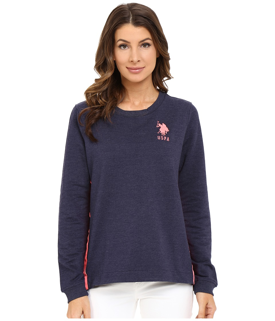 U.S. POLO ASSN. - French Terry Sweatshirt (Peacoat Blue) Women's Sweatshirt