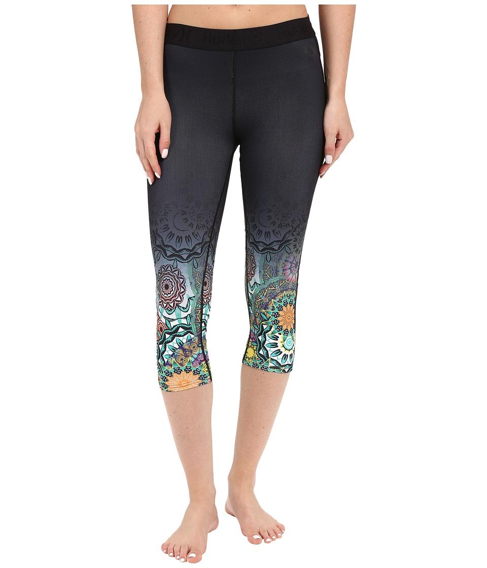 Hurley - Dri-FIT Engineered Crop Leggings (Black O) Women's Casual Pants