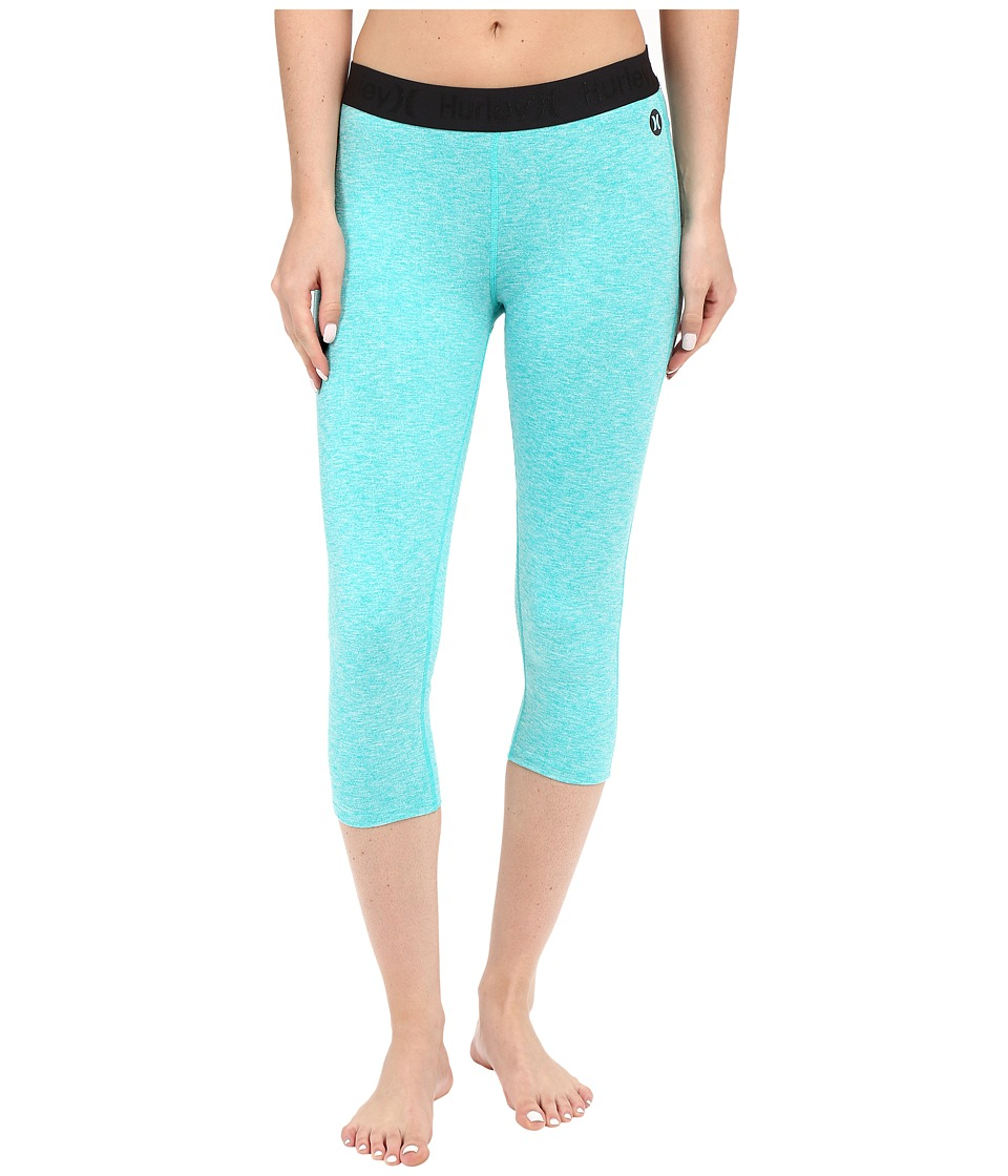 Hurley - Dri-Fit Crop Leggings (Heather Hyper Jade) Women's Workout