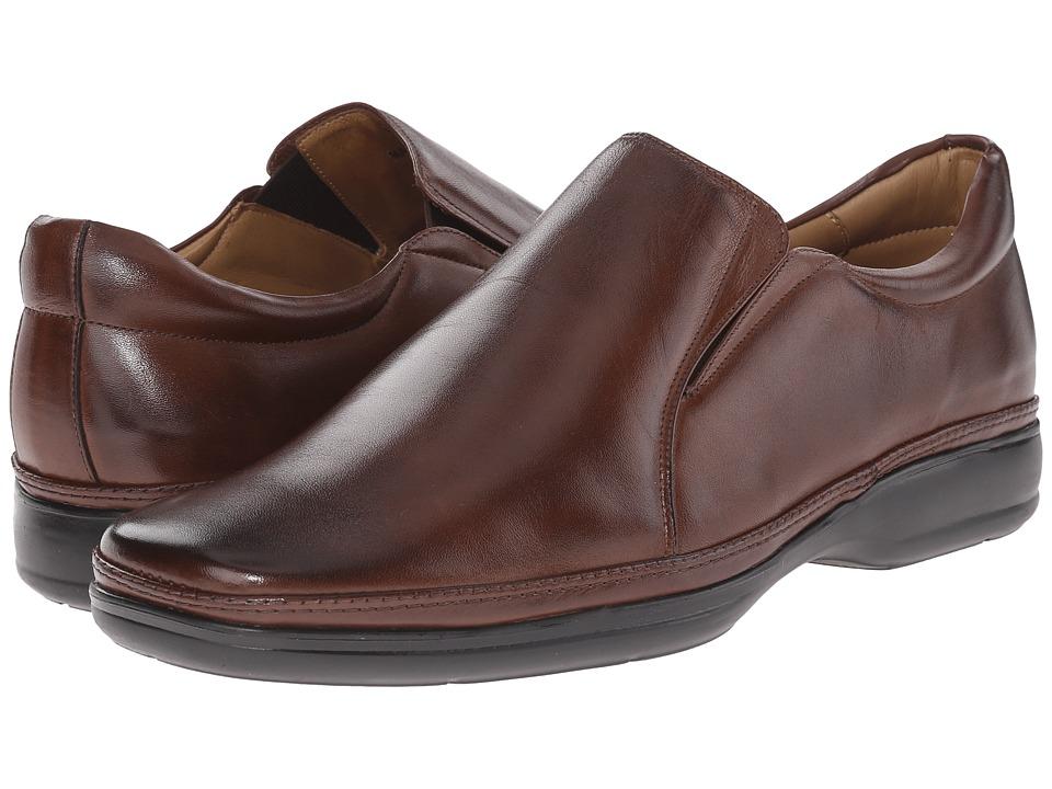 Massimo Matteo - Double Gore Slip-On (Caf ) Men's Slip on Shoes