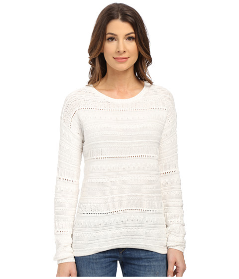 U.S. POLO ASSN. - Textured Mix Stitch Sweater (Snow White) Women
