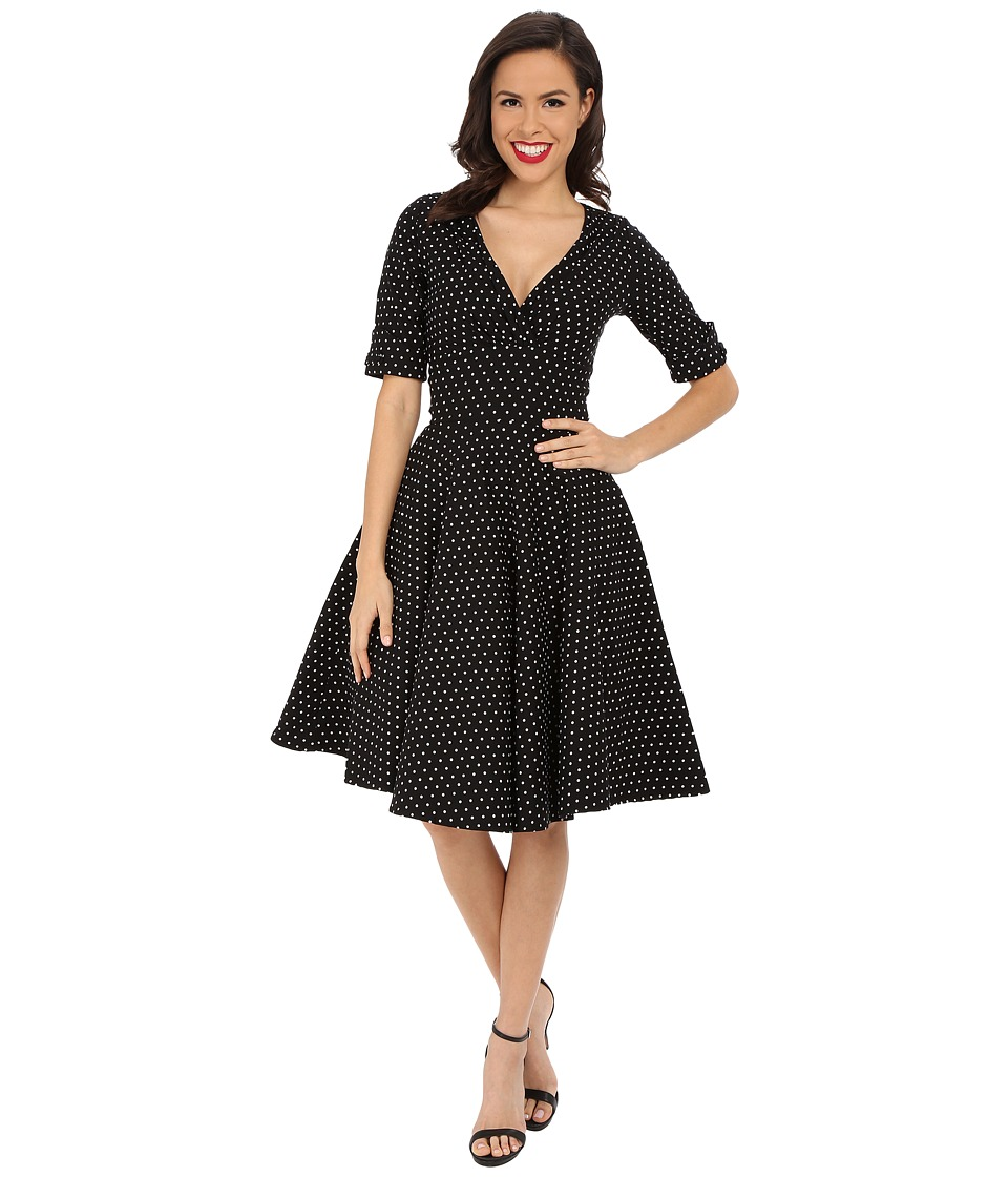 Unique Vintage - Delores Dress (Black) Women's Dress