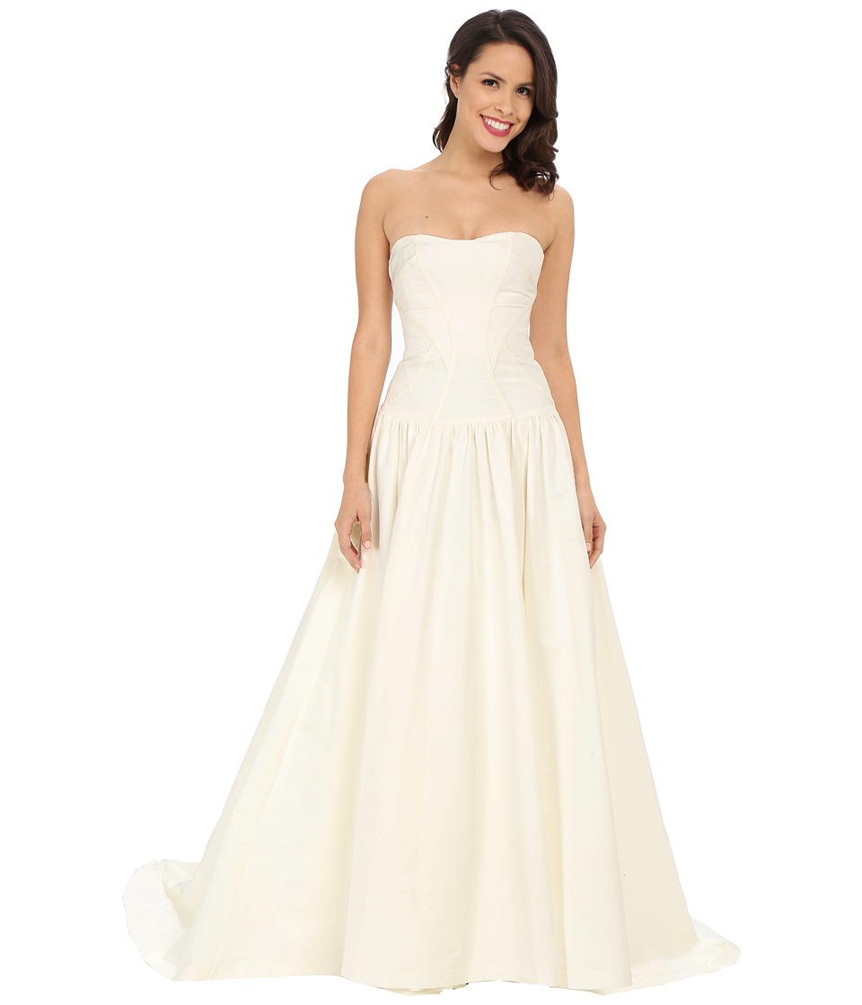 Nicole Miller - Laurel Silk Faille Bridal Gown (Antique White) Women's Dress